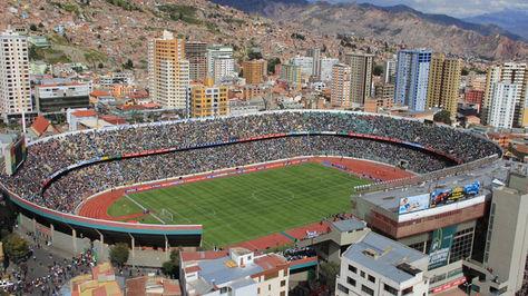 Vista panorámica del estadio Hernando Siles. Foto: La Razón