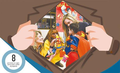 Derechos. A 'Nico' le hicieron hace dos semanas una fiesta en el centro Patiño por sus dos años de vida. Él fue disfrazado de Superman.