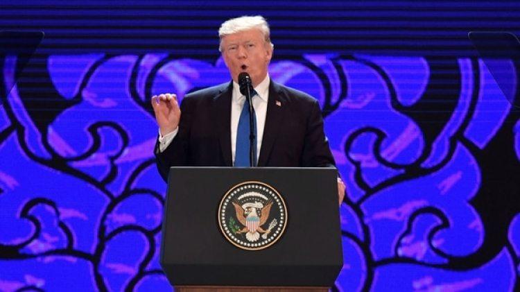 El presidente estadounidense Donald Trump durante la última jornada del foro económico Asia-Pacífico