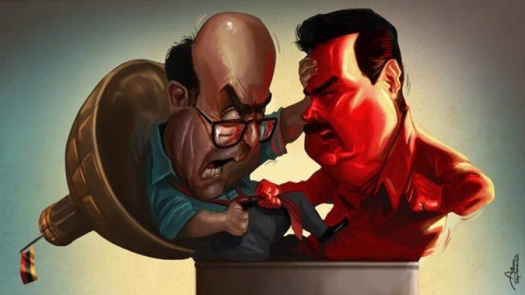 Julio Borges y Nicolás Maduro (Rodrigo Acevedo Musto)