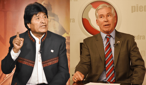 El presidente Evo Morales acusó a Peter Brennan de conspirar junto a la oposición en Bolivia.