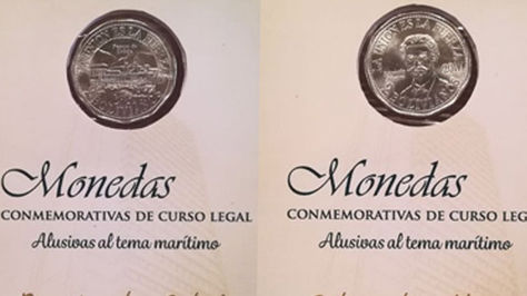 Monedas en homenaje a Eduardo Abaroa y el Puerto de Cobija. Foto: Banco Central de Bolivia