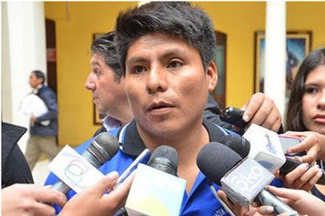 El dirigente Leonardo Loza en Palacio de Gobierno Foto: Internet