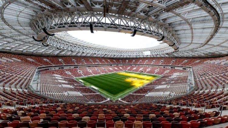 El estadio Luzhniki, sede del partido inaugural y la final del Mundial, con capacidad para 81 mil personas (Getty)