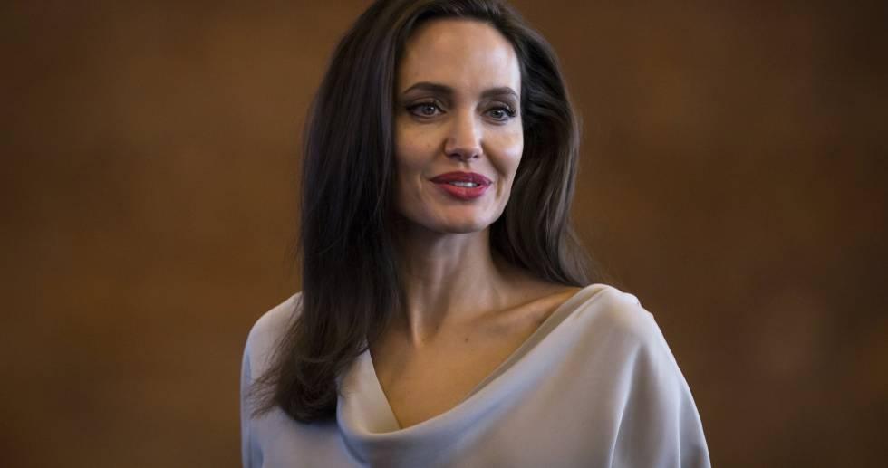 Angelina Jolie, durante la conferencia.