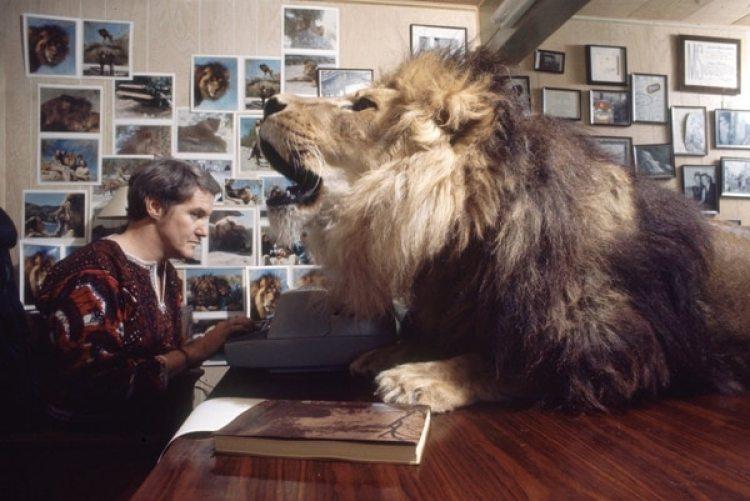 Noel Marshal, ex esposo de Hedren, en su oficina.