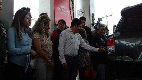 La presentación oficial de la gasolina súper 91 en Santa Cruz de la Sierra.