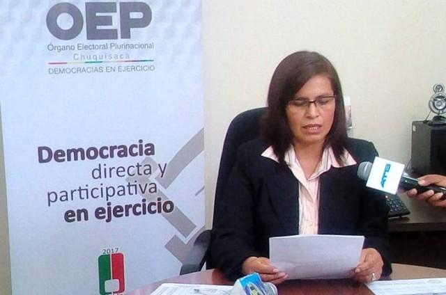 La presidenta del TED, Olga Mary Martínez. Foto: Gentileza