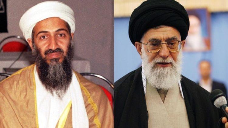 Osama bin Laden y el ayatolá iraní Ali Khamenei (Getty)