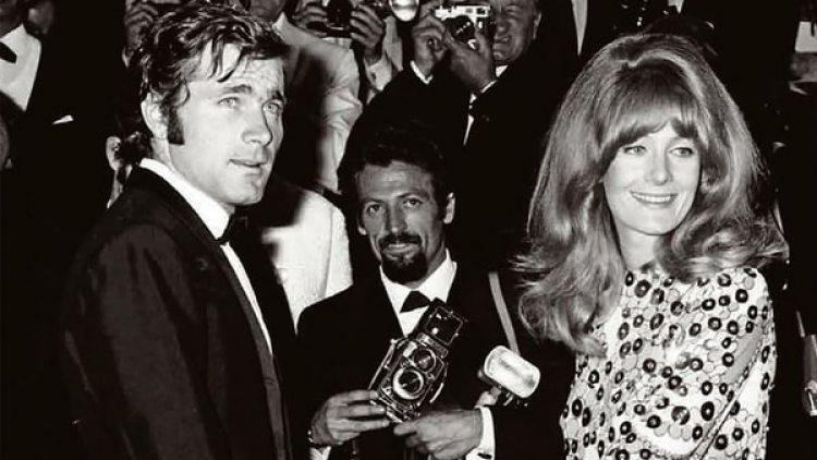 Franco Nero y Vanessa Redgrave en el Festival de Cannes, a fines de los 60