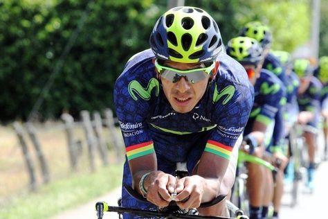 Óscar Soliz en la Vuelta a Colombia. Foto: HSB Noticias