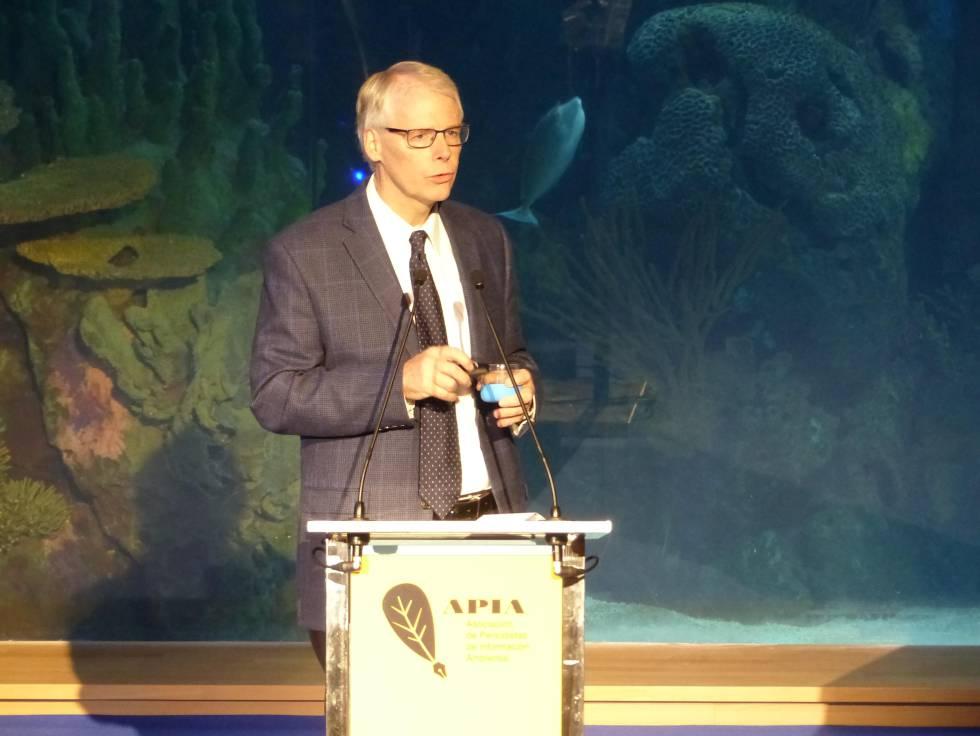 Gary T. Gardner, en su conferencia en Valencia con motivo del congreso sobre cambio climatico de APIA.