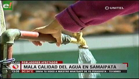 Pobladores de Samaipata denuncian mala calidad del agua