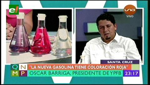 """Óscar Barriga: """"No desaparecerá la gasolina especial"""""""