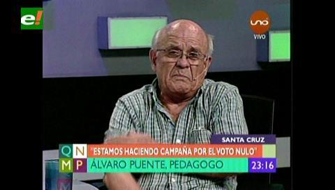"""Álvaro Puente pide voto nulo """"para no volver al mismo desastre"""""""