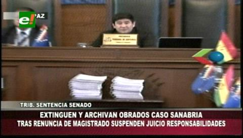 Senado boliviano extingue el juicio de responsabilidades contra exconsejero Freddy Sanabria