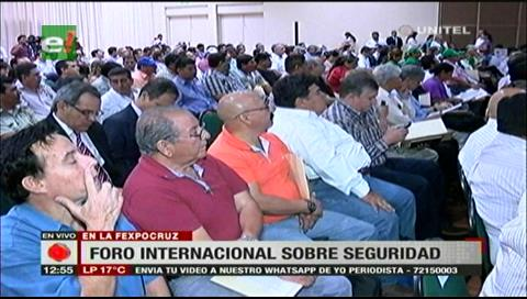 Santa Cruz: Foro de Seguridad une a autoridades nacionales y departamentales