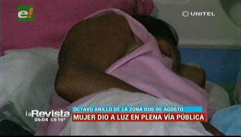 Mujer dio a luz en plena vía, vecinos la auxiliaron y llevaron a un hospital