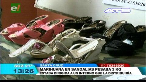 Dos mujeres intentaron meter marihuana a Palmasola en sus zapatos
