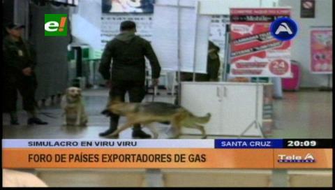 Foro de Gas: Realizaron simulacro de seguridad en el Aeropuerto Viru Viru