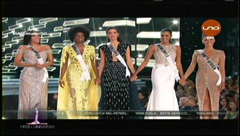 Las 5 finalistas del Miss Universo 2017