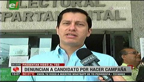 Diputado Vaca presentó denuncia contra un candidato judicial por hacer campaña