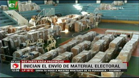 Santa Cruz: TED inicia el traslado del material electoral a las provincias