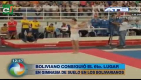 Boliviano consiguió el sexto lugar en gimnasia en los Juegos Bolivarianos 2017