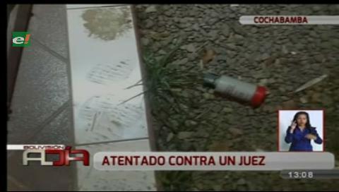 Juez de Cochabamba sufrió atentado en su domicilio