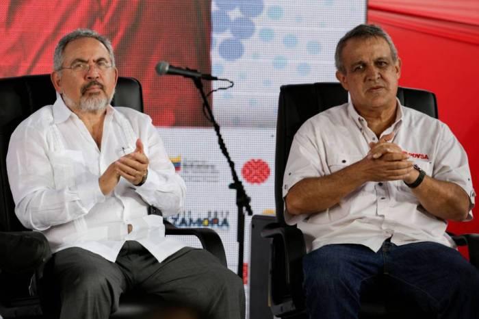 Los exdirectivos Nelson Martínez (izquierda) y Eulogio del Pino.