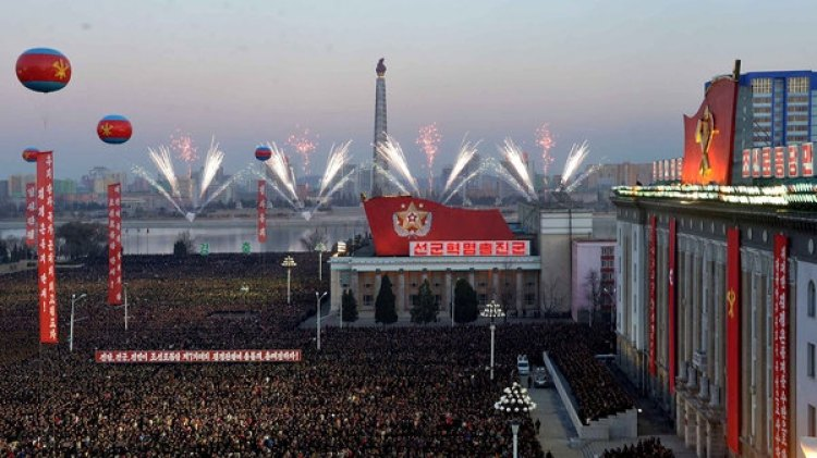 El evento se realizó en la plaza Kim Il-sung