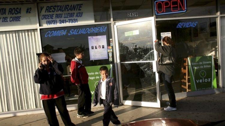 Una restaurante de comida salvadoreña en Farmers Branch, Texas. (Getty)