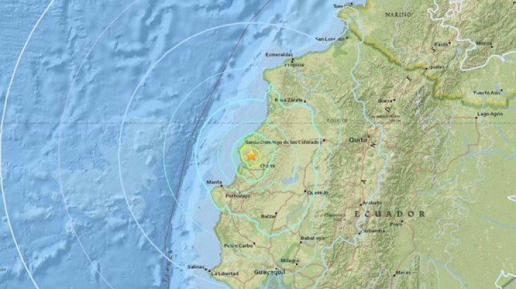 El epicentro del temblor (USGS)
