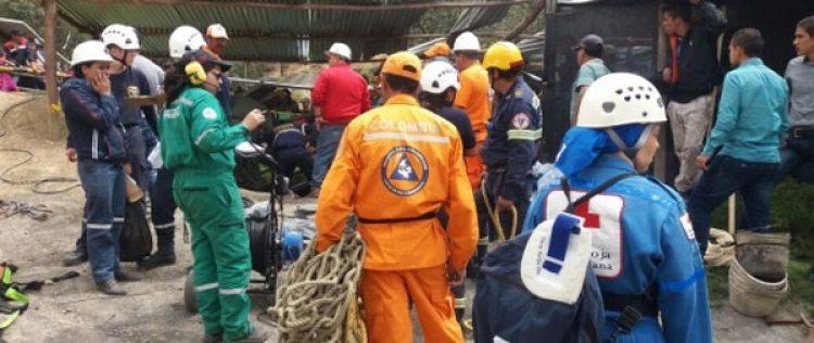 Labores de búsqueda en la mina.