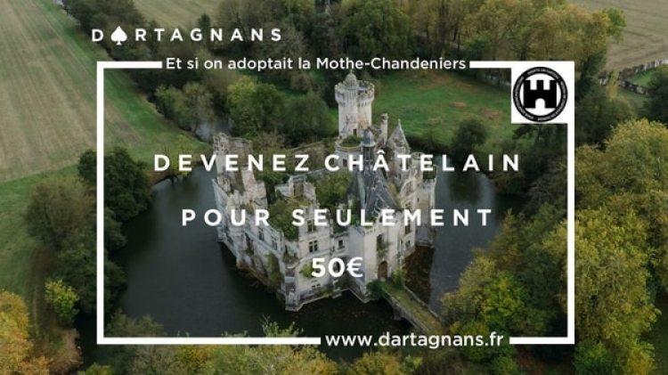 """La iniciativa fue dela asociación """"Adopte un château"""" (Adopta un castillo) y la plataforma digital """"Dartagnans"""", que buscan formas de financiación participativa para la preservación del patrimonio"""
