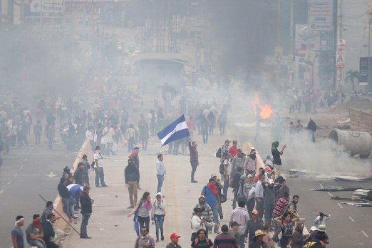 Protestas en Tegucigalpa. (REUTERS/Edgard Garrido)
