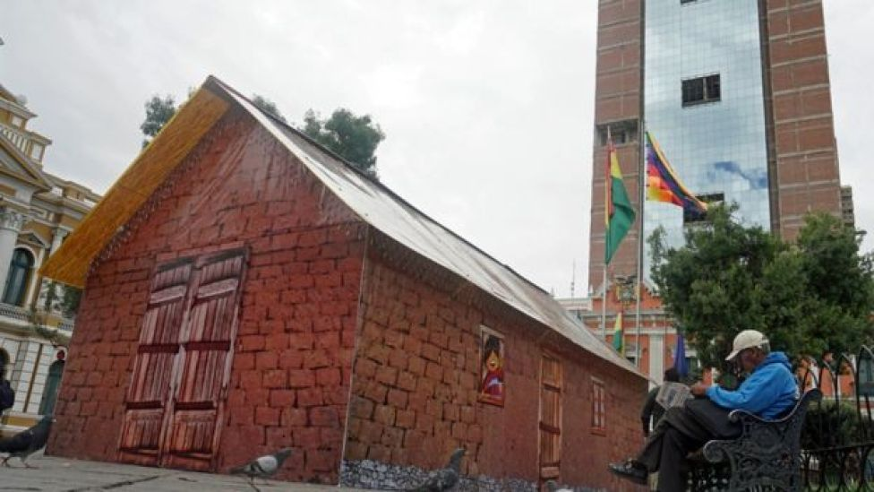 Una pequeña casa en La Paz
