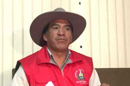 Resultado de imagen para El presidente del Comité Cívico Pro Departamento de La Paz, Clemente Gutiérrez,