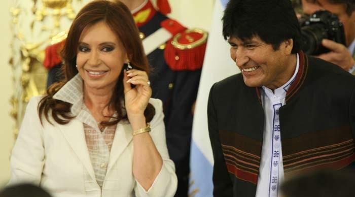 Resultado de imagen para Evo Morales Cristina Fernández,