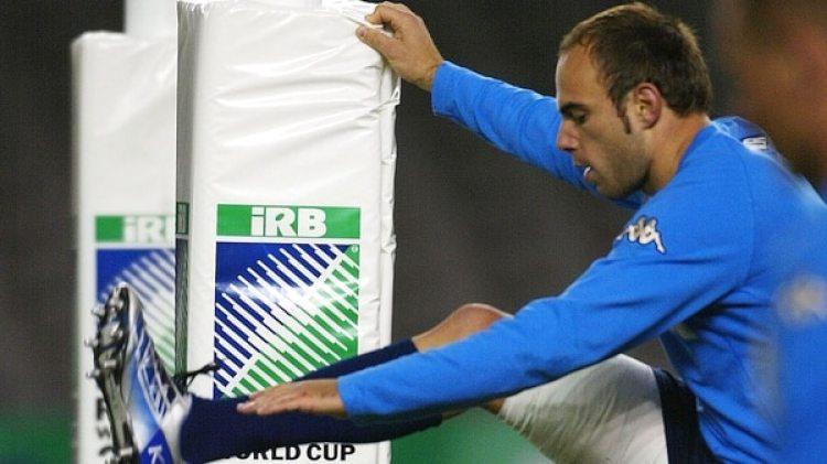 Andrea Benatti jugó cinco partidos en la selección italiana de rugby (Getty)