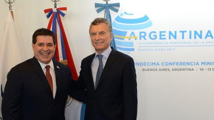 El presidente Mauricio Macri junto a su par de Paraguay, Horacio Cartes (Presidencia)