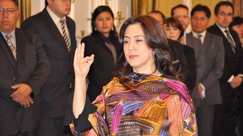 María del Carmen Almendras es posesionada como Vicecanciller de Bolivia. Foto:Cancillería