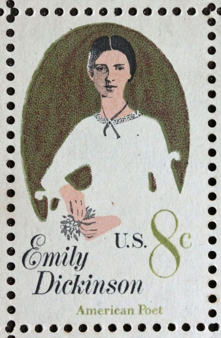 Estampita conmemorativa de Emily Dickinson, 1971