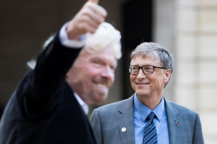 Bill Gates y Sir Richard Branson  (Reuters)