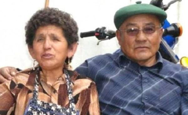 Sabino Raúl Cuqui Machaca junto a su esposa que también falleció este año luego de una operación. Gentileza/Urgentebo