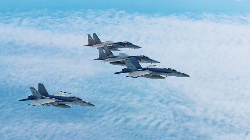 Bombarderos nucleares de EE.UU. y cazas de Japón realizan maniobras cerca de la península coreana