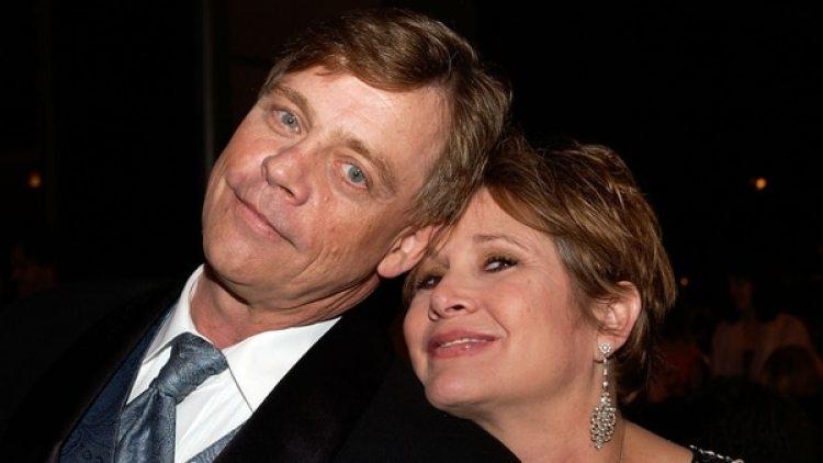 Hamill y Fisher en una imagen de junio de 2005, en Los Ángeles (AFP)