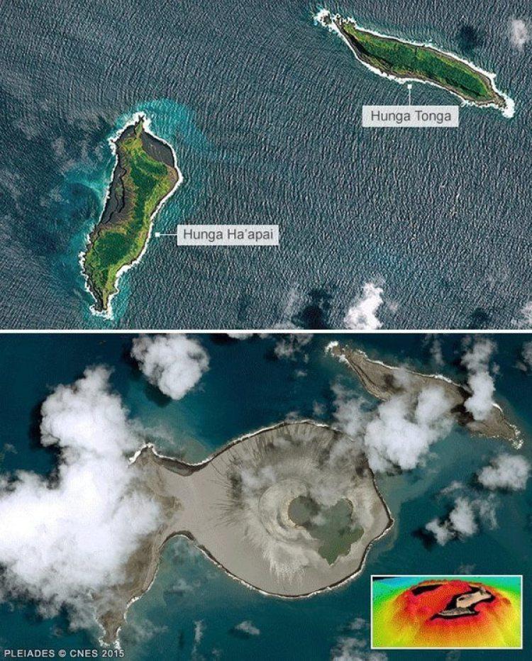 El antes y después del nacimiento de la isla