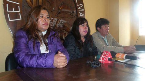 Representantes sindicales de los trabajadores en Salud.