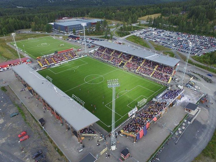 El modesto estadio del Östersunds FK, con capacidad para 8.500 personas, recibirá al Arsenal FC el próximo año